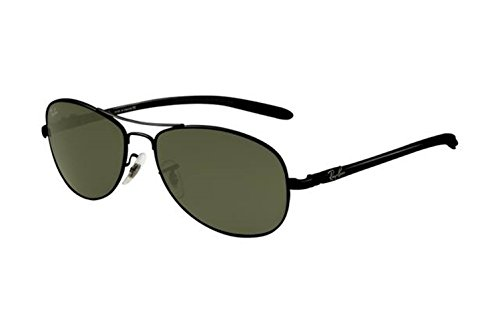 [Casual fashion sunglasses Aviator sunglasses Tech RB8301 Sunglasses Black Frame Green Lens AJU] (Iconic Women In History Costumes)