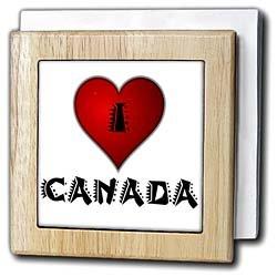 I Love Canada - 2 - 6 Inch Tile Napkin Holder