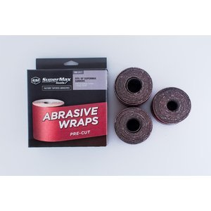 SuperMax 150 Grit Pre-Cut Abrasive Wraps for 19-38 Sanders, 3 Pack