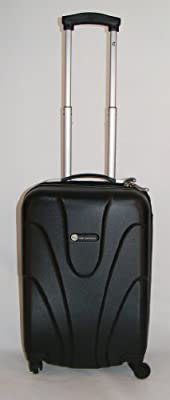 "Hard Shell 20"" Wheeled Suitcase Trolley in Black"