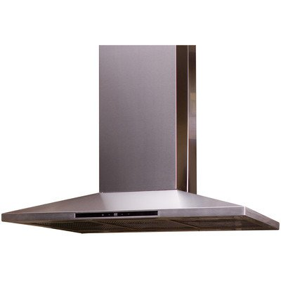 """Yosemite Miph36S-4H 600 Cfm 36"""" Island Hood With 3 Speed Dual Blowers From The C, Stainless Steel front-462535"""
