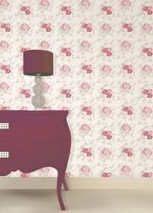 Fine Decor Claudia Wallpaper - Red from New A-Brend
