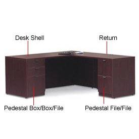 60 Inch Rectangular Desk Shell In Mahogany Executive