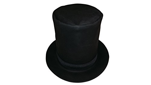 Sharpshooter Tall Leather Abraham Lincoln Stovepipe High Top Hat