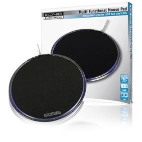Konig Multi Functional Mouse Pad with Speaker and USB Port - Black