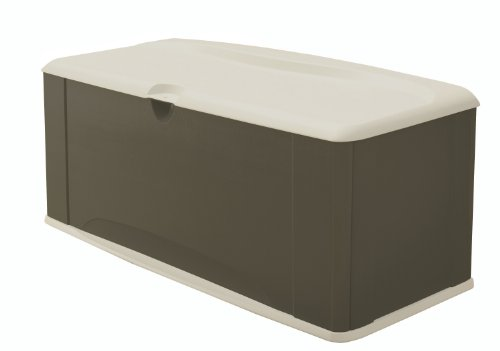 Rubbermaid Deck Box With Seat, 16 Cubic Feet (Fg5E3900Olvss)