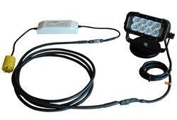 Led Machine Light - 200Lb. Magnetic Mount - 100'L X 85'W Beam - 24 Watt - Runs Off 110Vac(-White-Spo