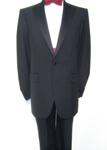 Mens Black Single Breasted Dinner Dress Tuxedo Suit