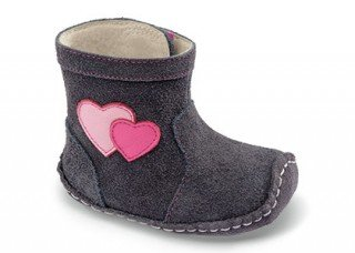 See Kai Run Baby Girls' Smaller Miriam Boot (Infant) - Gray - 9-12 Months front-507602