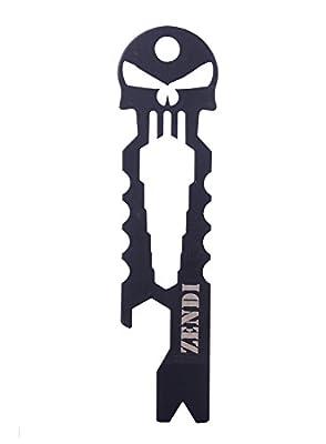 VERANY Versatile Tool Multi Function Pocket Survival Tool Keychain Bottle Opener EDC (Black) by VERANY