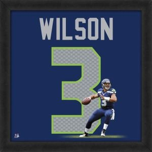 Russell Wilson Seattle Seahawks 20 x 20 Framed Uniframe Jersey Photo by Biggsports