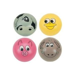 Small World Toys Gertie Ball - Barnyard Babies - (Colors & Styles Vary)