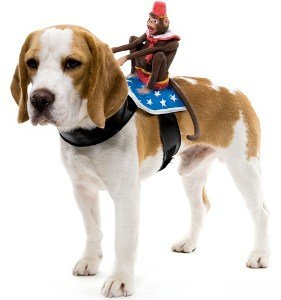 Monkey Dog Rider Pet Costume Size One Size