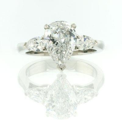 2.50ct Pear Shape Diamond Engagement Anniversary