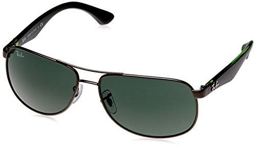 Ray-Ban Aviator Sunglasses (Black On Green) (RB3502|029/61)