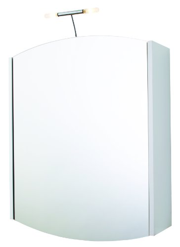 Croydex Loire Illuminated 1 Door Mirror Cabinet with Shaver Socket, White