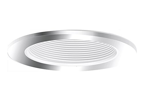 "Aurora 4"" White Baffle, Polished Chrome Trim For Halo / Juno Recessed Downlight Cans - Ar-Tr44Wpc"