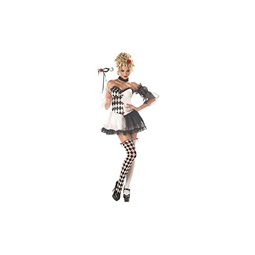 [Le Belle Harlequin Costume - Small - Dress Size 6-8] (Le Belle Harlequin Adult Costumes)