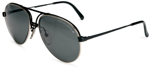 Porsche Uber-Cool Aviator Shades Unisex Adult Sunglasses Black  &  Gold