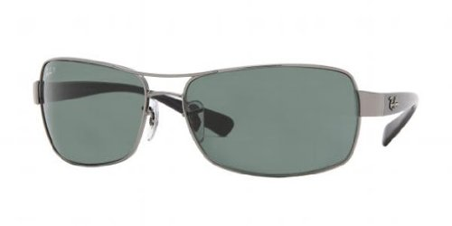 Ray-Ban RB 3379 Sunglasses Styles – Gunmetal Frame / Crystal Green Polarized RB3379-004-58-64
