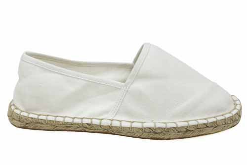 W1043G Womens White Canvas Flat Summer Espadrilles Espadrille Shoes Size Uk 4 5 6 7 8