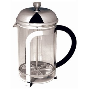 Cafetiere - Chrome Finish 6 Cup Capacity.