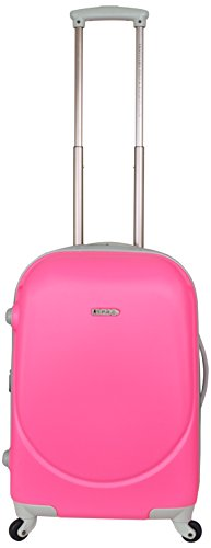 travelers-polo-racquet-club-barnet-28-inch-expandable-spinner-suitcase-neon-pink-one-size