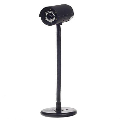 3.0 Mp Telescope Shape Usb Digital Computer Web Camera W/ 6 -Led Night Vision Lights