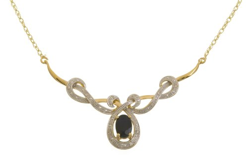 9ct Yellow Gold PNE1689 Ladies' 5pt Diamond Necklace