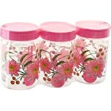 SKI Printed Easy Pet Jars 1100ml (3 Piece Set With Spoons)