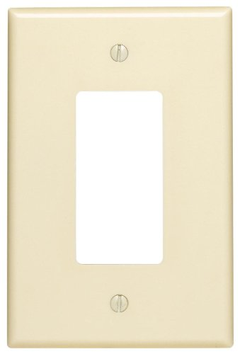 Leviton 82601 1-Gang Decora/GFCI Device Decora Wallplate, Oversized, Thermoset, Device Mount, Almond