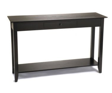 Cheap American Heritage Console Table w Drawer (Black) (R6-107)