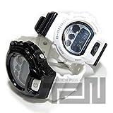 【CASIO G-SHOCK/カシオ Gショック T2Nカスタム】 DW-6900NB-7×DW-6900NB-1 PANDA/パンダカスタム ブラックベゼル/ホワイトベゼル 2点セット ペアウォッチ 腕時計[並行輸入品]