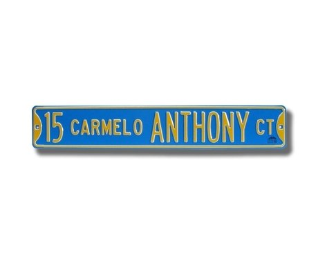 15 Carmelo Anthony Court Ct Sign 6 x 36 NBA Basketball Street Sign