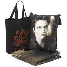 Twilight The Movie Fleece Throw Blanket (Edward) ,Pillow PLUS New Moon Tote Bag