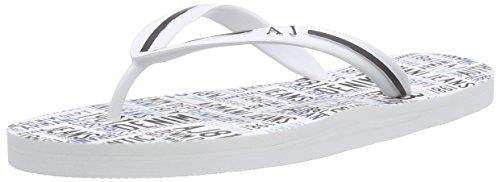 Armani JeansC656156 - Sandali a Punta Aperta Uomo , Bianco (Weiß (BIANCO - WHITE 10)), 41
