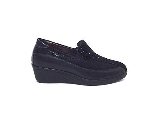 Susimoda scarpa donna, 8612, pelle e camoscio nero nr 39 A6102