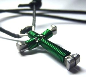 Hunter Green Disciple's Cross Necklace