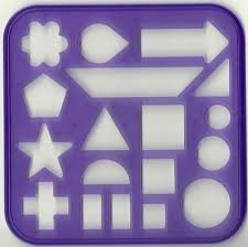 Tupperware Tuppertoy Assorted Shapes Stencil Purple