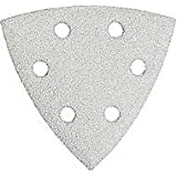 Bosch SDTW122 Detail Triangle, Hook and Loop Sanding Sheet, 120 Grit, 25-Pack (White)