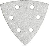 Bosch SDTW122 Detail Triangle, Hook & Loop Sanding Sheet, White, 120 Grit, 25 Pack