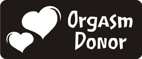 3 – Orgasm Donor 1 1/4″ x 3″ Hard Hat Biker Helmet Stickers Bs447