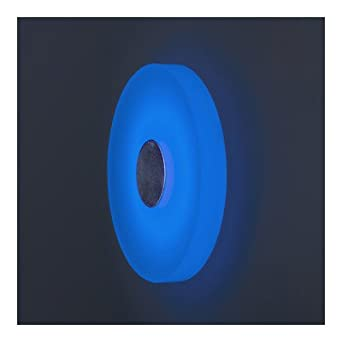"Ledra Ice 1 Round Light Wall Sconce Shade Color: Blue, Installation: 2"" J Box"