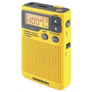 New Sangean Pocket Portable Radio NOAA weather / emergency alert Digital AM/FM tuner Auto seek