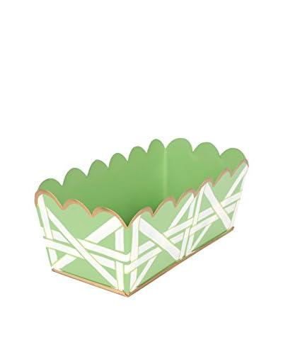 Jayes Cane Desk Caddy, Green