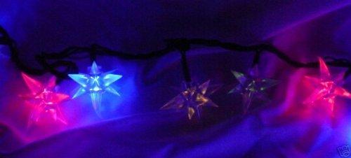 Christmas Concepts Ltd 100 Multi Colour Led 3D Crystal Star Lights (Li52)