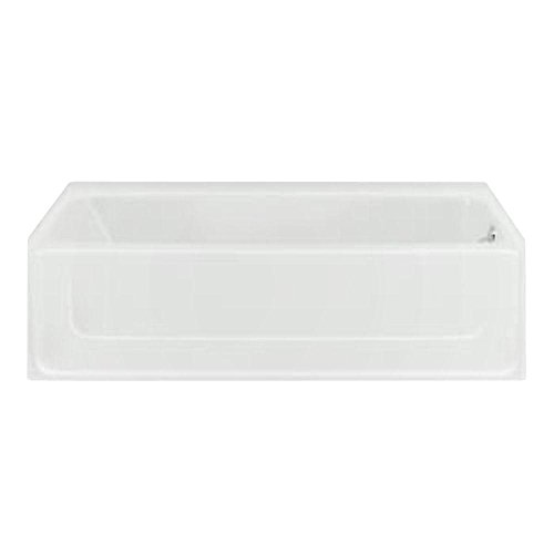 Sterling Plumbing 61041120-0 All Pro Bathtub, 60-Inch x 30-Inch x 15-Inch, Right-Hand, White (60 Inch Bath Tub compare prices)