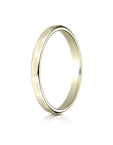 Benchmark 14K White Gold 2mm Slightly Domed Standard Comfort-Fit Wedding Band Ring Sizes 4-15