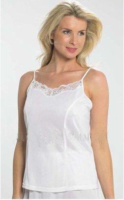 Ladies Camisole Vest Top With Adjustable Straps(16-18 EUR 44/46, White)