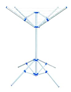 4 Arm Portable Rotary Airer / Washing Line, Tripod Base, Easy Assembly